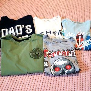 Five boys summer t-shirt .